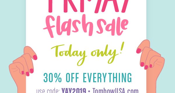 Tombow Flash Sale: Get 30% Off Everything!