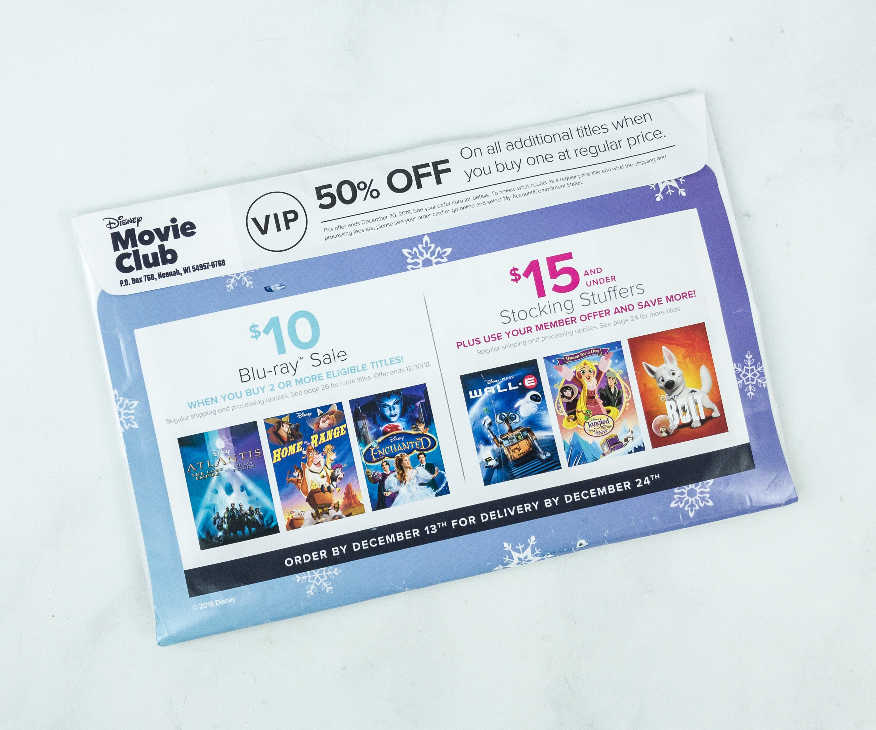 Disney Movie Club December 2018 Review Coupon Review 2 Hello Subscription