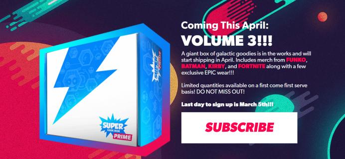 Super Geek Box Prime Volume 3 Franchise Spoilers + Coupon!