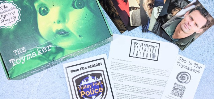 The Deadbolt Mystery Society Subscription Box Review – December 2018