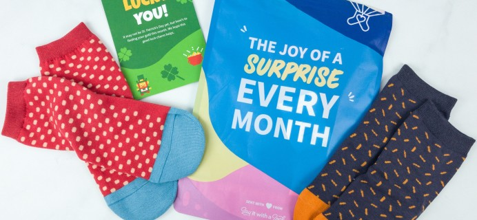 Say It With A Sock February 2019 Kids Sockscription Review & Coupon – Girls