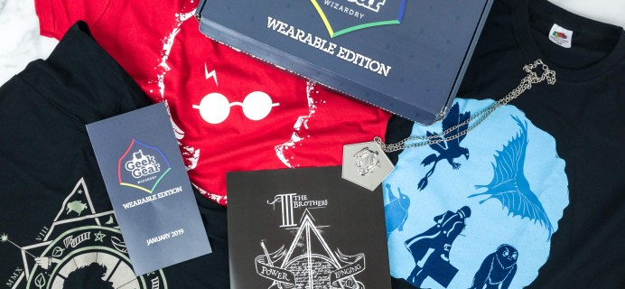 Geek Gear World of Wizardry Wearables January 2019 Subscription Box Review + Coupon