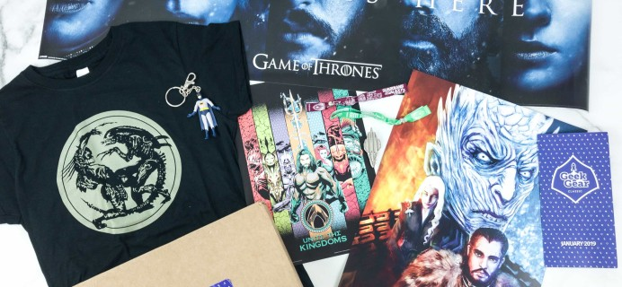 Geek Gear Box January 2019 Subscription Box Review + Coupon