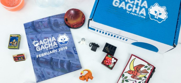 Gacha Gacha Crate February 2019 Subscription Box Review + Coupon