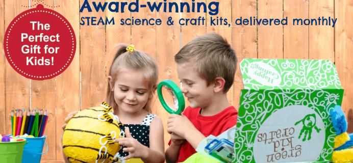 Green Kid Crafts International Shipping Update + Coupon!