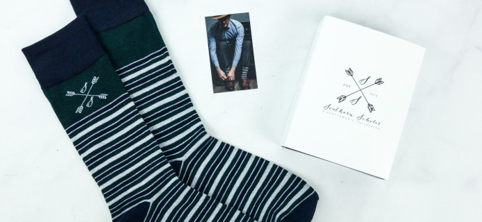 Southern Scholar March 2019 Men's Sock Subscription Box Review & Coupon