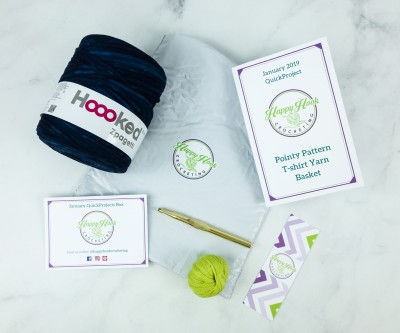 Happy Hook Crocheting January 2019 Subscription Box Review + Coupon