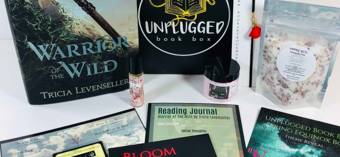 Unplugged Book Box Young Adult March 2019 Subscription Box Review