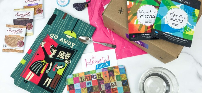 The Introverted Chick March 2019 Subscription Box Review + Coupon