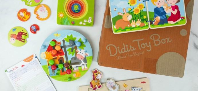 Didis Toy Box April 2019 Subscription Box Review & Coupon