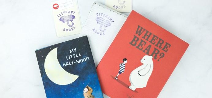 Elephant Books April 2019 Subscription Box Reviews – PICTURE BOOKS