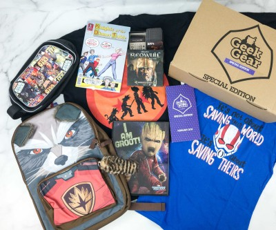 Geek Gear Box Special Edition February 2019 Subscription Box Review + Coupon