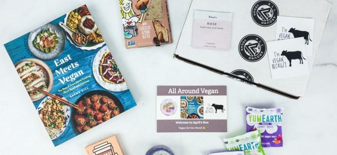 All Around Vegan Box April 2019 Subscription Box Review + Coupon