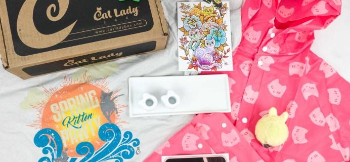 Cat Lady Box April 2019 Subscription Box Review + Coupon