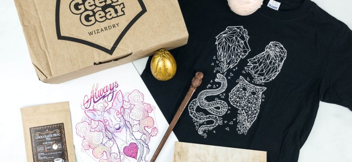 Geek Gear World of Wizardry February 2019 Subscription Box Review & Coupon