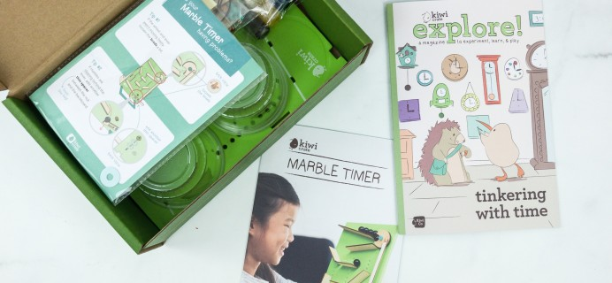Kiwi Crate February 2019 Review & 40% Off Coupon – MARBLE TIMER