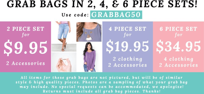 Cents of Style Grab Bags Available Now + 50% Off Coupon – as low as $9.95 Shipped!