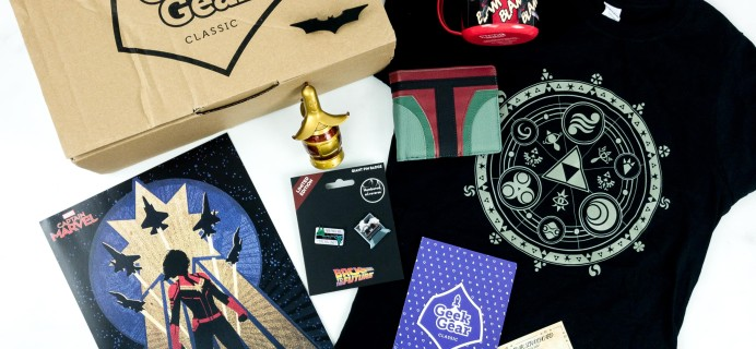 Geek Gear Box March 2019 Subscription Box Review + Coupon