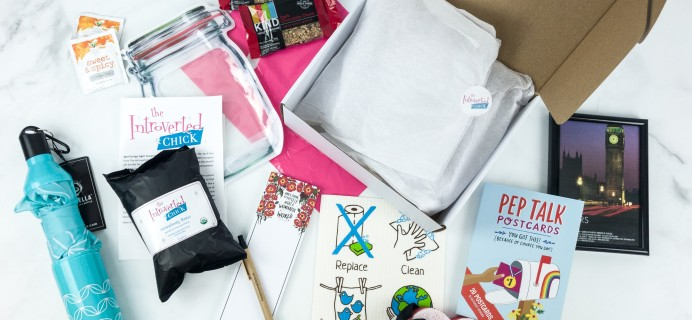 The Introverted Chick April 2019 Subscription Box Review + Coupon