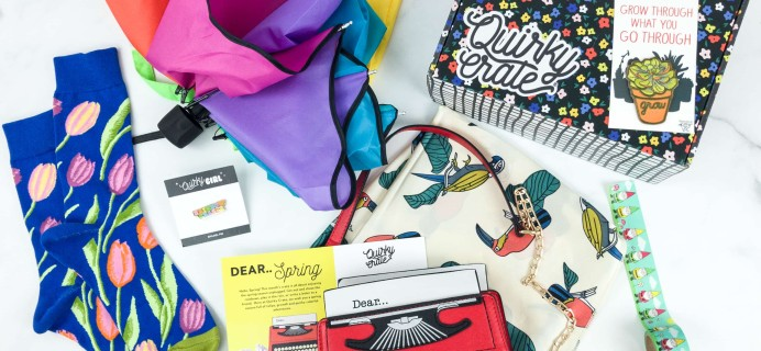 Quirky Crate April 2019 Subscription Box Review + Coupon
