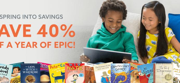 Epic! Kids Books Spring Sale: Get 40% Off!
