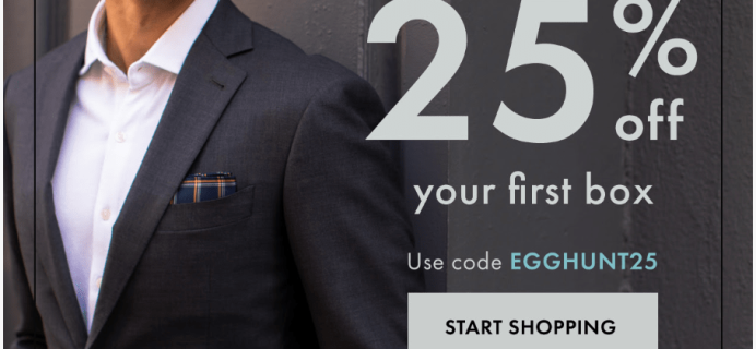 SprezzaBox Easter Sale: 25% Off First Month + 25% Off Sitewide!