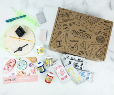 Crayola CIY Box April 2019 Subscription Box Review + Coupon – MARBLE MADNESS