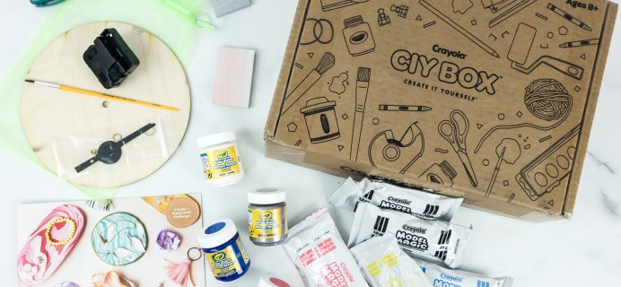 Crayola CIY Box April 2019 Subscription Box Review + Coupon – MARBLE MADNESS