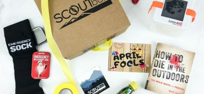 SCOUTbox April 2019 Subscription Box Review + Coupon