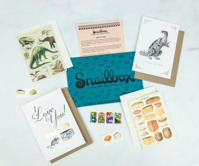 Snailbox April 2019 Subscription Box Review + Coupon