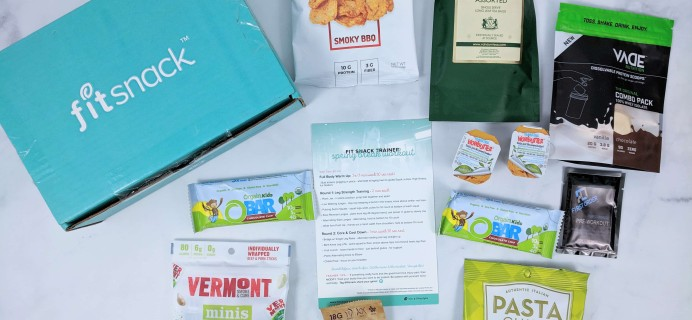 FitSnack March 2019 Subscription Box Review & Coupon