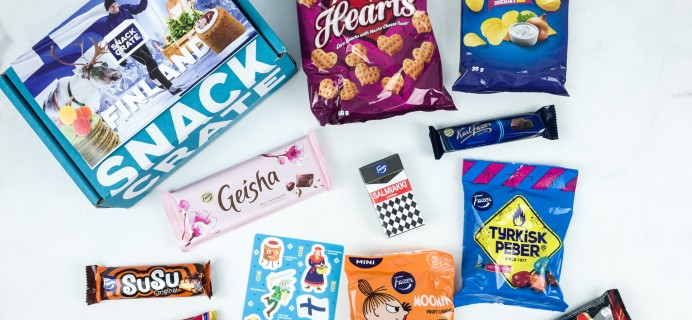 Snack Crate April 2019 Subscription Box Review & $10 Coupon