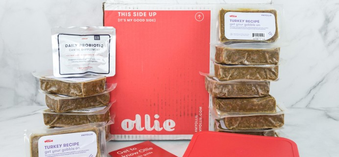 Ollie Dog Food Subscription Box Review – May 2019