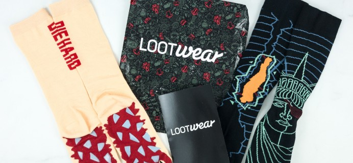 Loot Socks by Loot Crate December 2018 Subscription Box Review & Coupon