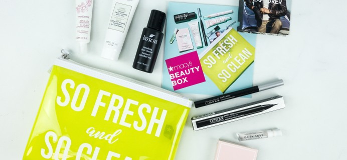 Macy's Beauty Box May 2019 Subscription Box Review