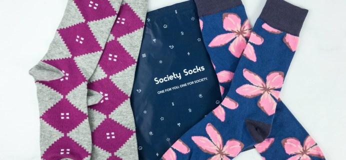 Society Socks May 2019 Subscription Box Review + 50% Off Coupon