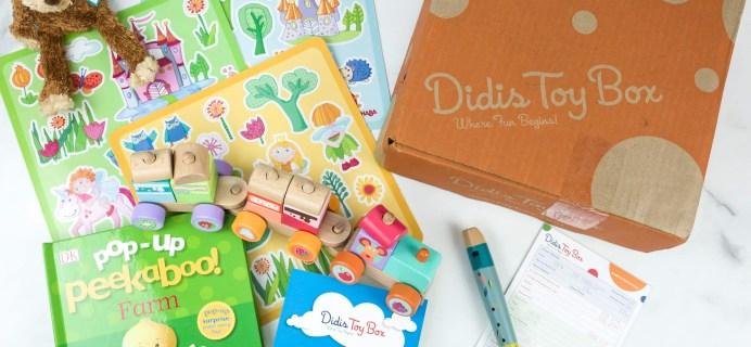 Didis Toy Box June 2019 Subscription Box Review & Coupon