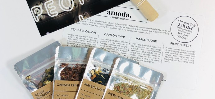Amoda Tea June 2019 Subscription Box Review + Coupon!