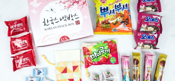 Korean Snack Box June 2019 Subscription Box Review + Coupon