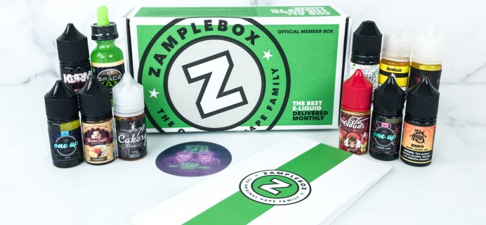 Zamplebox E-Juice June 2019 Subscription Box Review + Coupon!