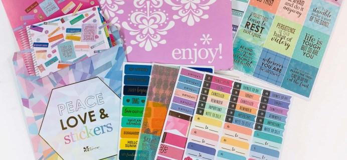 Erin Condren Sticker Club Summer 2019 Subscription Box Review