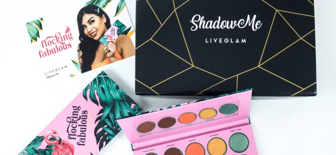 LiveGlam ShadowMe July 2019 FLOCKING FABULOUS Bonus Palette Review + COUPON