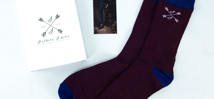 Southern Scholar July 2019 Men's Sock Subscription Box Review & Coupon