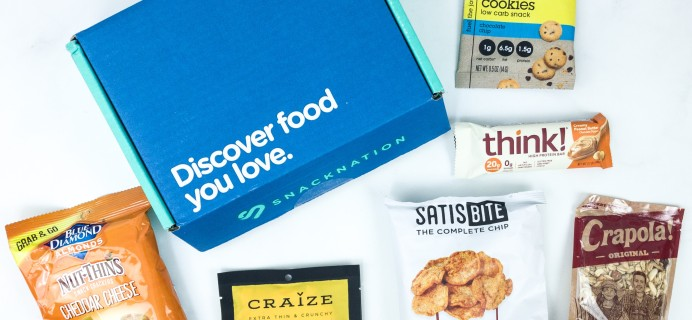 Snack Nation July 2019 Subscription Box Review + Coupon!