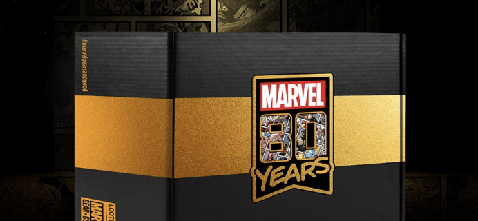 Loot Crate Marvel 80th Anniversary Limited Edition Crate Available to Pre-Order Now!!