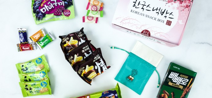 Korean Snack Box July 2019 Subscription Box Review + Coupon