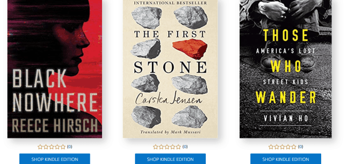 Amazon First ReadsAugust 2019 Selections: 1 Book Free for Amazon Prime Members
