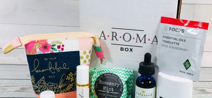 AromaBox by AromaGirls June-July 2019 Subscription Box Review + Coupon