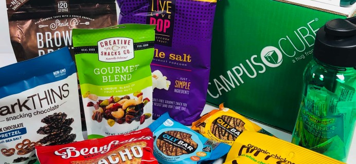 CampusCube College Care Package September 2019 Snacks & Essentials Box Review + Coupon!