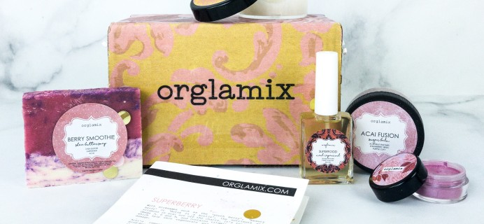 Orglamix August 2019 Subscription Box Review & Coupon